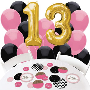 Big Dot of Happiness Chic 13th Birthday Decorations