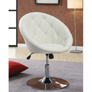 Coaster Round-Back Swivel Chair