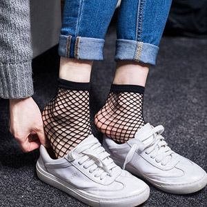 Darller 5 Pairs Womens Lace Fishnet Socks