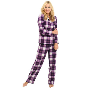 Del Rossa Women's 100% Cotton Flannel Pajama Set