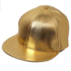 Funky Junque Metallic Flat Bill Snapback Hat
