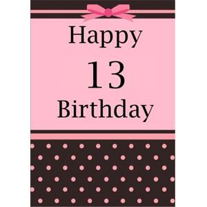 Happy 13 Birthday Notebook