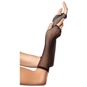 Leg Avenue Womens Triangle Net Fingerless Gloves
