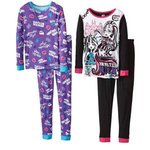 Monster High 4-Piece Pajama Set