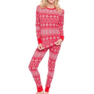 Noble Mount Waffle Knit Thermal Pajama Set