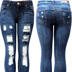 S-OK 1826 Skinny Ripped Distressed Pants