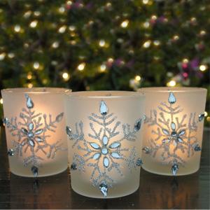 Snowflake Votive Candleholders