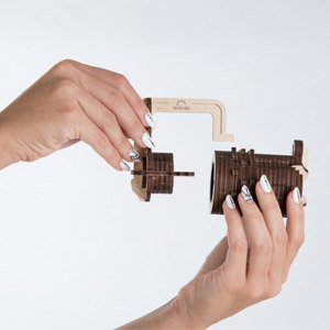 UGEARS Combination lock 3D wooden puzzle