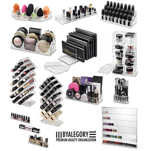 byAlegory Acrylic Makeup Organizers