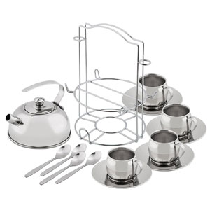 Kidzlane Play Stainless Steel Tea Set