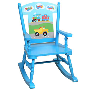 Olive Kids Trains, Planes, Trucks Rocking Chair