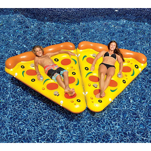 Swimline Giant Inflatable Pizza Slice Float