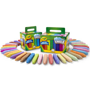 Crayola Washable Sidewalk Chalk Set