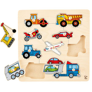 Hape Vehicles Wooden Peg Puzzle