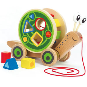 Hape Walk-A-Long Snail Toy