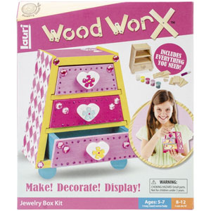 Lauri Toys Wood WorX Jewelry Box Kit