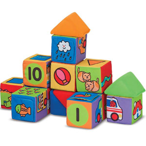 Melissa & Doug Ks Kids Match & Build Soft Blocks