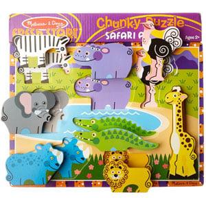Melissa & Doug Wooden Safari Chunky Puzzle