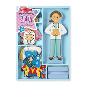 Melissa & Doug Julia Magnetic Dress-Up Wooden Doll