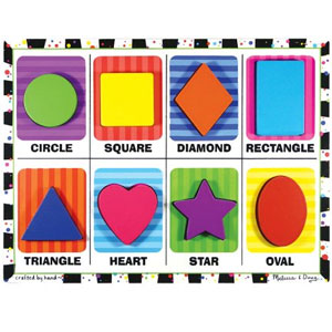 Melissa and Doug Wooden Shapes Chunky Puzzle