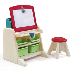 Step2 Flip & Doodle Desk with Stool Easel