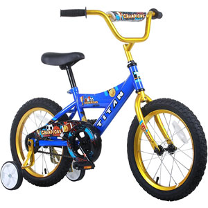 Titan Boys Champion BMX Bike, Blue/Gold