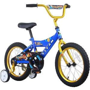 Titan Boys Champion BMX Bike, Blue/Gold