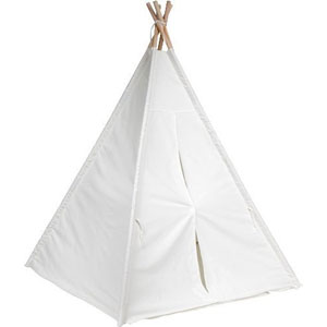 Trademark Innovation 6 White Canvas Teepee