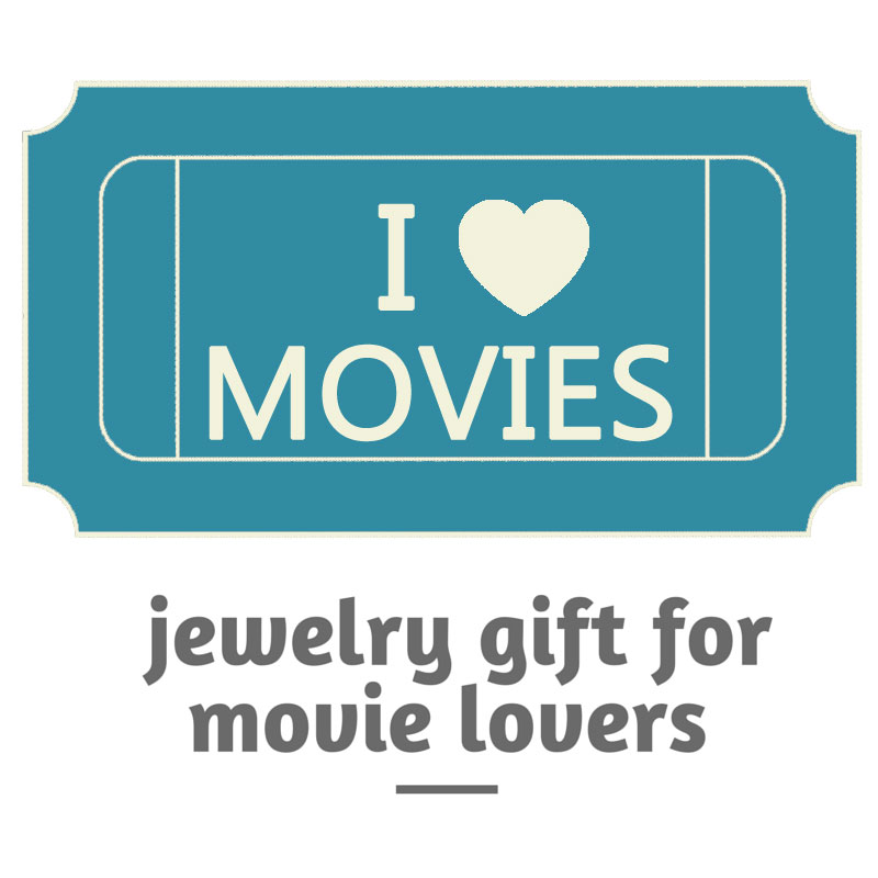 silver plated movie ticket charm