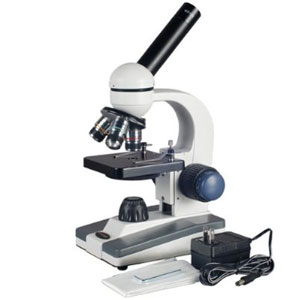 AmScope M500 Monocular Compound Microscope