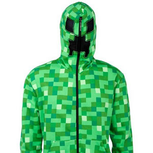 Jinx Men's Minecraft Creeper Hoodie