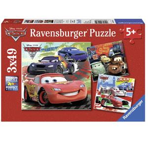 Disney Cars- 3 x 49-Piece