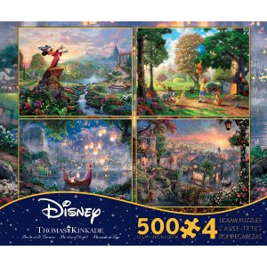 Thomas Kinkade Disney Dreams Collection 4 In 1 Puzzle