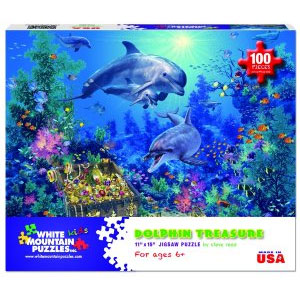 White Mountain Puzzles Dolphin Treasures