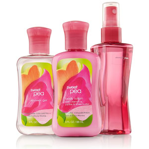 Bath & Body Works Sweet Pea Spa Set