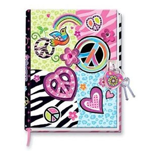 Hot Focus Peace Diary with Lock