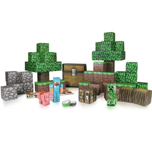 Minecraft Papercraft Overworld Deluxe Set, Over 90 Pieces