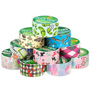 10 Rolls Duck Duct Tape Colored Patterns