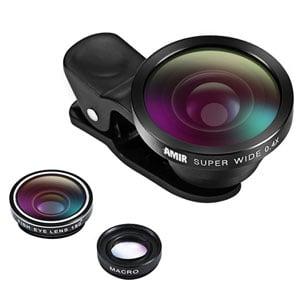 Amir 3 in 1 Fisheye Lens & Macro Lens