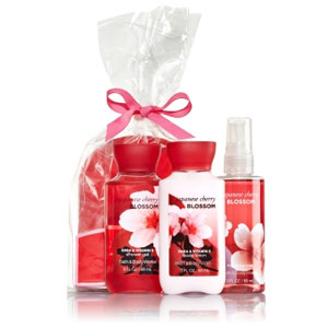Bath & Body Works Japanese Cherry Bath Set