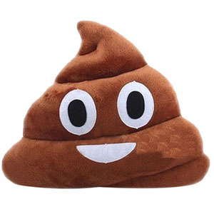 Emoji Poop Face Plush