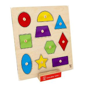 Hape Geometric Shapes Knob Puzzle