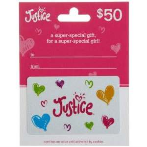 Justice/ Limited Too Gift Card