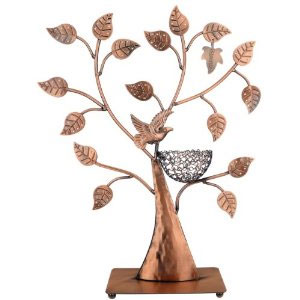 MyGift Jewelry Tree With Bird Nest