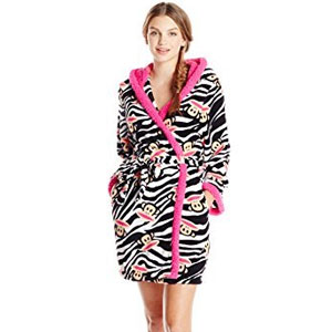 Paul Frank Sweet & Cozy Zebra Julius Hooded Robe