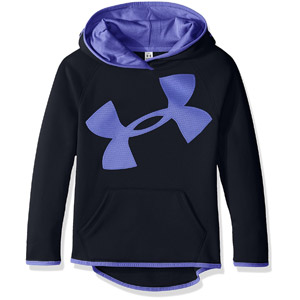 Under Armour Girls Fleece Jumbo Logo Hoodie