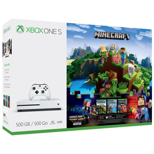 Xbox One S 500GB Minecraft Complete Adventure Bundle