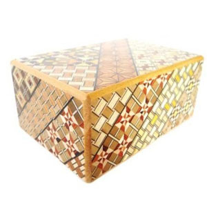 Yosegi Puzzle Box 4 sun 10 steps