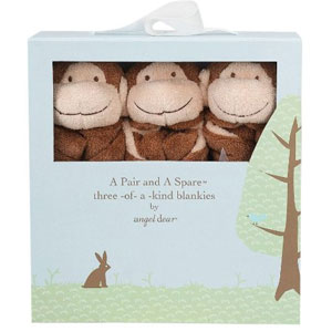 Angel Dear 3 Piece Monkey Blanket