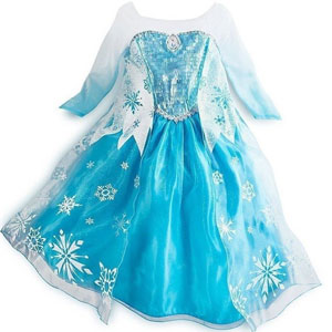 JerrisApparel Snowflakes Dress Princess Costume